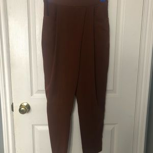 Brown Zara Trousers with drape front detail